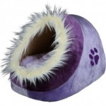 Luxusní iglů pelíšek pro psy ve tvaru koule pro perfektní soukromí pejska.